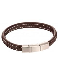 Mon-bijou - D5120 - Bracelet cuir en acier inoxydable