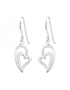 Mon-bijou - H34839 - Boucle d'oreille coeur en argent 925/1000