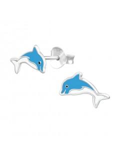 Mon-bijou - H37076 - Boucle d'oreille dauphin en argent 925/1000