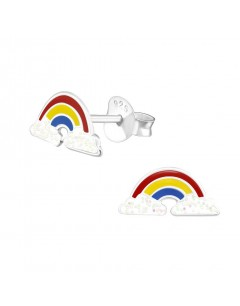 Mon-bijou - H31975 - Boucle d'oreille arc en ciel en argent 925/1000