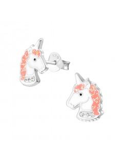 Mon-bijou - H32010 - Boucle d'oreille licorne en argent 925/1000