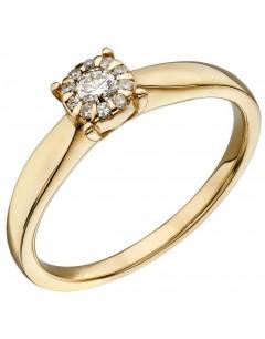 Mon-bijou - D565 - Bague diamant en or 375/1000