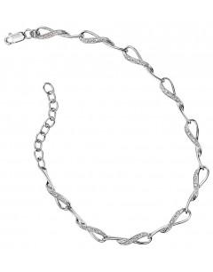 Bracelet diamant en Or Blanc 14 carats
