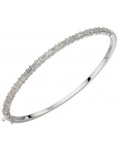 Mon-bijou - D484a - Bracelet diamant sur or blanc 375/1000