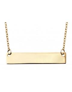 Mon-bijou - D281a - Collier pour graver en or Jaune 375/1000
