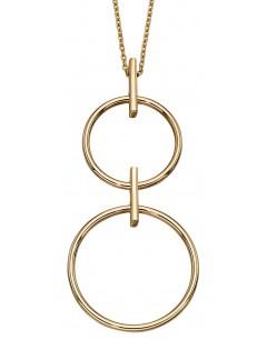 Mon-bijou - D298a - Collier double anneaux en or jaune 375/1000