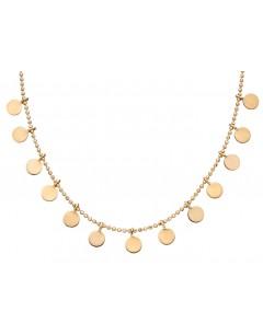 Mon-bijou - D316 - Collier tendance en or jaune 375/1000