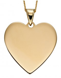 Mon-bijou - D2237 - Collier coeur or jaune 375/1000