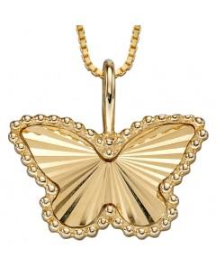 Mon-bijou - D2248 - Collier papillon sur or jaune 375/1000