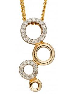 Mon-bijou - D2253 - Collier tendance diamant sur or jaune 375/1000