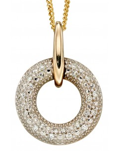 Mon-bijou - D2257 - Collier tendance diamant sur or jaune 375/1000