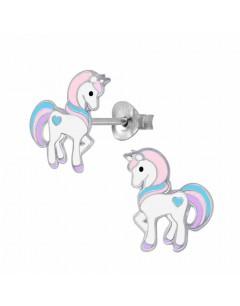 Mon-bijou - FF4010 - Boucle d'oreille chevaux en argent 925/1000