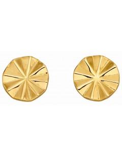 Mon-bijou - D5890 - Boucle d'oreille tendance plaqué or en argent 925/1000