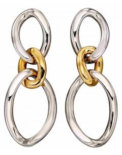 Mon-bijou - D5893 - Boucle d'oreille tendance plaqué or en argent 925/1000