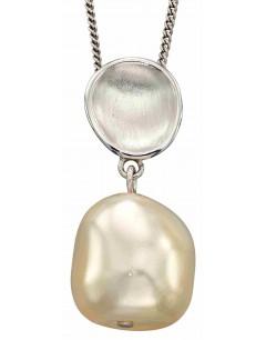 Mon-bijou - D4911a - Collier chic perle en argent 925/1000