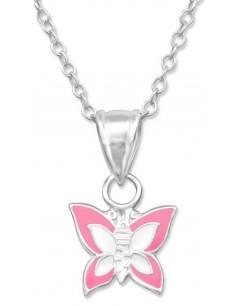 Mon-bijou - H10387 - Collier papillon en argent 925/1000