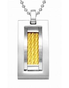 Mon-bijou - H28433 - Collier tendance en acier inoxydable