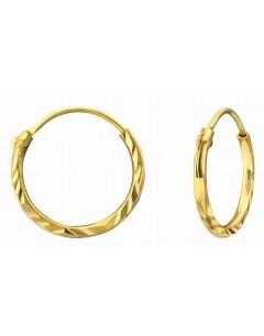 Mon-bijou - H25110 - Boucle d'oreille dorée en argent 925/1000