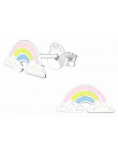 Mon-bijou - H31976 - Boucle d'oreille arc en ciel en argent 925/1000