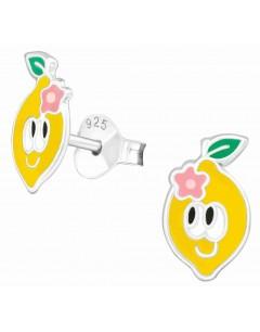 Mon-bijou - H39141 - Boucle d'oreille citron en argent 925/1000
