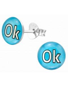 Mon-bijou - H39630 - Boucle d'oreille OK en argent 925/1000