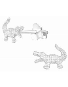 Mon-bijou - H39913 - Boucle d'oreille crocodile en argent 925/1000