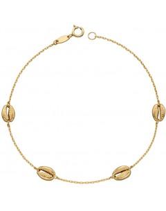 Mon-bijou - D494 - Bracelet coquillages en or 375/1000