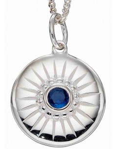 Mon-bijou - D4971a - Collier topaze bleu en argent 925/1000