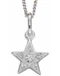 Mon-bijou - D4974c - Collier étoile en argent 925/1000
