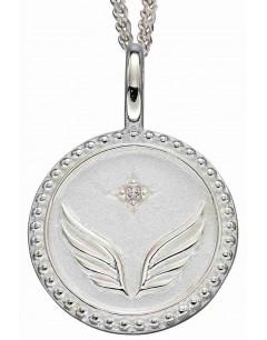 Mon-bijou - D5003c - Collier étoile et aile d'ange en argent 925/1000