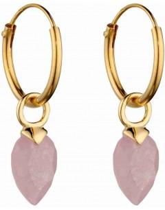 Mon-bijou - D2666 - Boucle d'oreille plaqué or en argent 925/1000