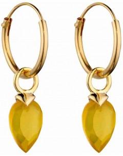 Mon-bijou - D2671 - Boucle d'oreille plaqué or en argent 925/1000