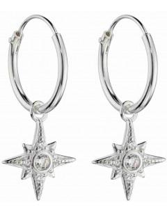 Mon-bijou - D6044 - Boucle d'oreille étoile en argent 925/1000