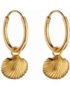 Mo-bijou - D6045 - Boucle d'oreille coquillage plaqué or en argent 925/1000