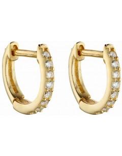 Mon-bijou - D6049 - Boucle d'oreille plaqué or en argent 925/1000
