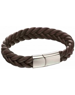 Mon-bijou - D5140 - Bracelet marron en acier inoxydé