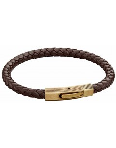 Mon-bijou - D5272 - Bracelet cuir en acier inoxydable
