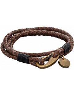 Mon-bijou - D5273 - Bracelet cuir en acier inoxydable