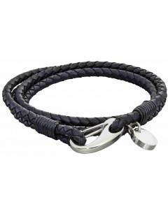 Mon-bijou - D5274 - Bracelet cuir en acier inoxydable