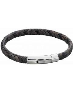 Mon-bijou - D5276 - Bracelet cuir en acier inoxydable