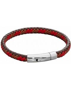 Mon-bijou - D5278 - Bracelet cuir en acier inoxydable