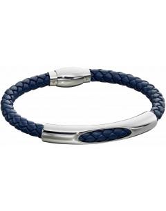 Mon-bijou - D5279 - Bracelet cuir en acier inoxydable
