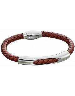 Mon-bijou - D5280 - Bracelet cuir en acier inoxydable