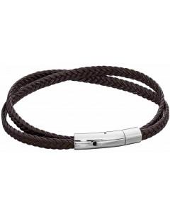 Mon-bijou - D5281 - Bracelet cuir en acier inoxydable