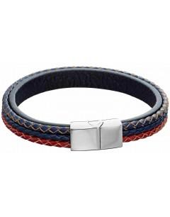 Mon-bijou - D5283 - Bracelet cuir en acier inoxydable