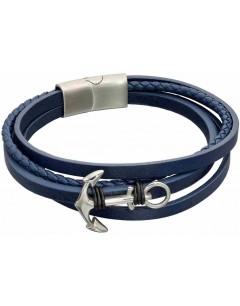 Mon-bijou - D5319 - Bracelet cuir en acier inoxydable