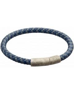 Mon-bijou - D5325 - Bracelet cuir en acier inoxydable