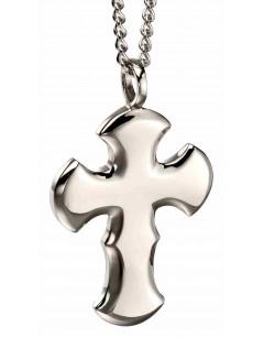 Mon-bijou - D4665 - Collier croix en acier inoxydable