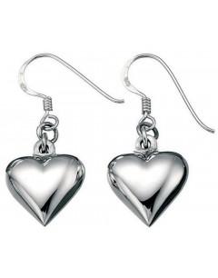 Mon-bijou - D2873 - Boucle d'oreille coeur en argent 925/1000